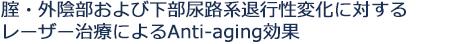 腟・外陰部および下部尿路系退行性変化に対するレーザー治療によるAnti-aging効果